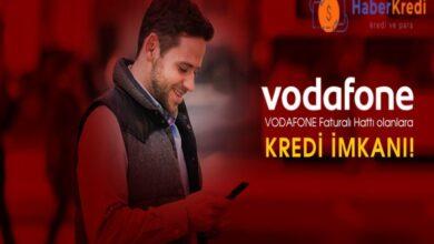 Vodafone Faturalı Hatlara 15 Bin TL Nakit Kredi