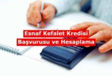 ESKKK Kredi Başvurusu Hesaplama Tablosu